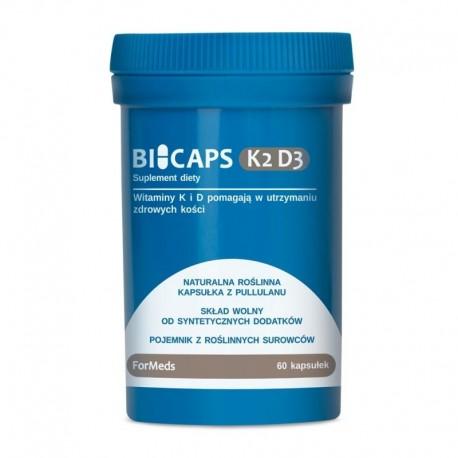 dla wegetarian i wegan - BICAPS K2 D3 -  60 kaps.