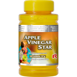 Ocet  jabłkowy w tabletkach- APPLE VINEGAR STAR  - 60 tabletek- StarLif
